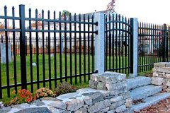 Aluminum-Black-Commerical-Grade-101-Pinch-Picket-with-Arched-Gate_11